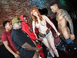 Interracial Orgy With Busty Ba
