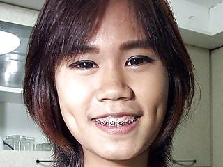 Flat Chest Thai Girlette On Public Display