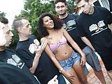 Zoey Reyes Gives Blowjob To A Group Of Horny White Men