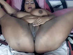 Hispanic Broad Toying With That Pussy Tip She Squirts