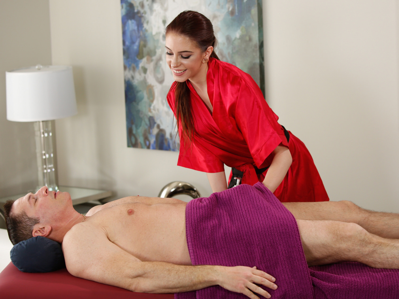 John strong enjoys stress relief massage 2