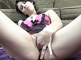 Busty babe Brianna Stars is fingering her hot young pussy