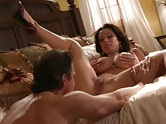 Sienna haves her boobies caressed before getting nailed hardcore