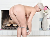 Euro milf Kathy White takes care of her orgasm craving cunt