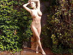 Charming suzanna a undressing outdoor - 2 part 7
