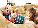 Jeleana Marie Gives Blowjob To Very Old Grandpa