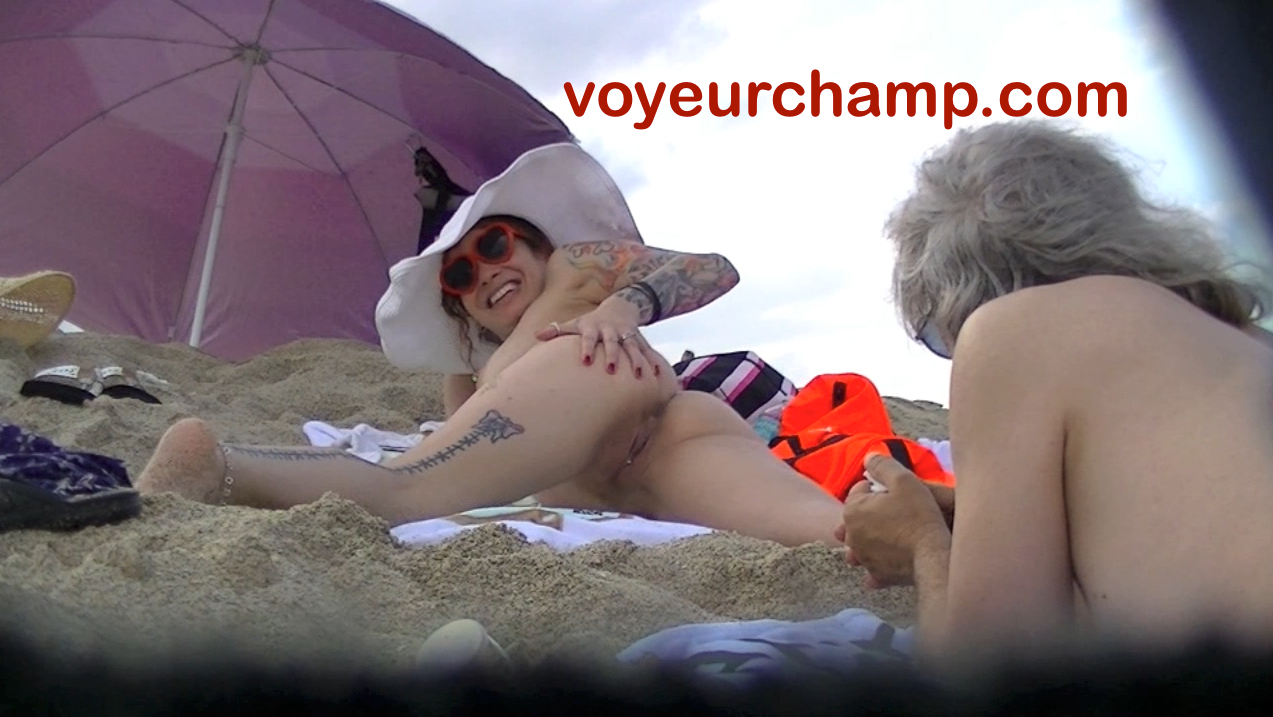 Nude beach exhibitionist voyeur