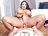 German milf Sandra Sturm with extreme oiled monster juggs