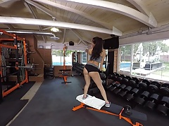 Naughty America VR - Sofi Ryan big booty fucking in the gym!