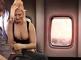 Handjob in Airplane