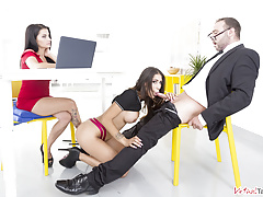 VirtualTaboo.com Deep Job Interview with Bianka Blue and Raquel Martin