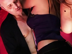 Horny strippers dance with their clients to seduce him and fuck before they get paid
