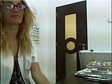 Optometrist Flashing at Work