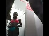 changing room black woman voyeur