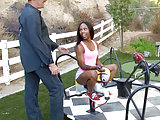 Ebony teen Sara Banks fucks st