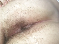 Croatian boy squirting my cum out of his ass