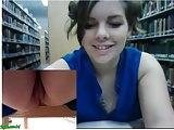 Webcam Girl in Library 09