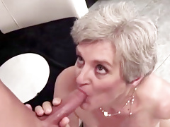 Busty Granny Gives Her Hairy Pussy For Fucking