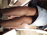stockings tops bitch legs on stairs