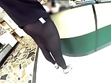 Flashing my seethru black pant