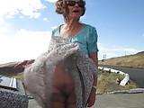 Rita in wind