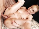 Long dick filled granny pussy