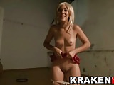 Funny casting with a cute blonde teen outdoor in Krakenhot