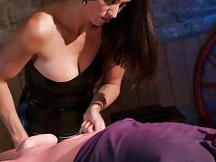 Latex Mistress Handjob