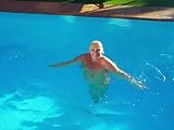 Lisa in the pool 1