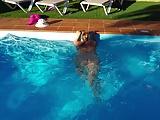 Lisa in the pool 2