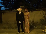 Strange video of masked man and hot milf in public Krakenhot