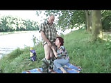 Older Couple on the river bank