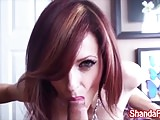 Shanda Fay Gives Him a Titty Fuck in Lingerie!