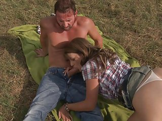 David gives his love a satisfying bonking at the green fields
