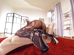 DDFNetwork VR - Nikky Dream Pantyhose beauty in Virtual Real