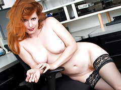 Redhead Boss In The Office