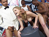 Interracial Gangbang With Alli