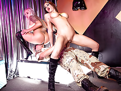 The Stripper Experience - Jess and Nina sucking and fucking