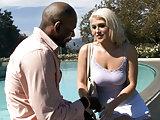 Busty blonde Nikki Phoenix Tries BBC