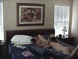 Naked Brunette MILF. Naked couple having sex in bed.