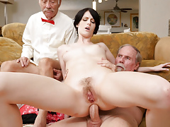 Alex Harper Tries Anal With Old Man