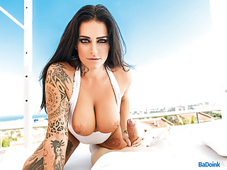 BaDoink VR Huge Tits MILF Babe With Tattoos POV Outdoor Fuck