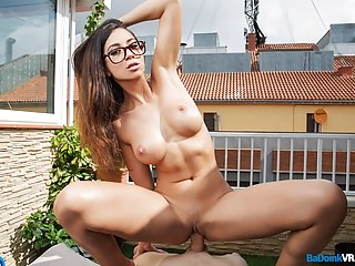 BaDoink VR College Step Sister Fucked Outside POV