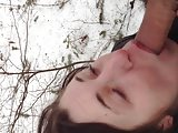 young Carrie sucking in the woods