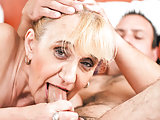Old granny asshole fucked
