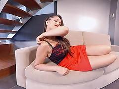 Nikki Little does a webcam show
