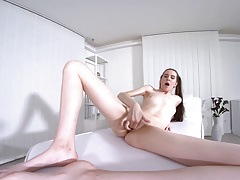TmwVRnet.com - Sunny Honey - Brunette play with pussy