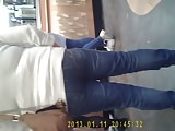 OMG! MILF Ass Eating Jeans Wedgie at Subway!