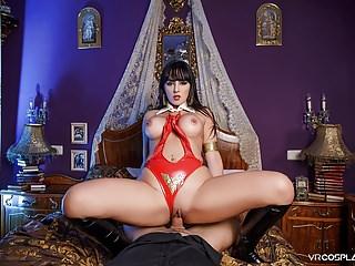 VRCosplayX Busty Latina Vampirella Alba De Silva Has Cumlust