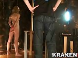 Krakenhot - Blonde teen in a BDSM sesion with  great blowjob
